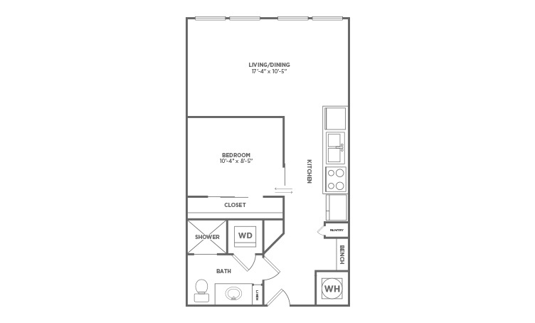Jr. One Bedroom